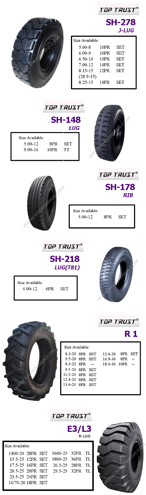 Top Trust - Agricultural, Industrial, Off-The-Road Tyre
